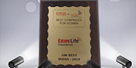 Exide Life Insurance emerged as '100 best companies for women to work!