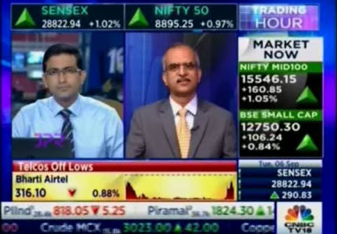 Mr Shyamsunder Bhat, CIO, Exide Life Insurance, CNBC TV 18