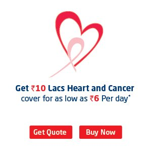Buy life and heart and Cancer insurance online