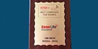 Exide Life Insurance emerged as '100 best companies for women to work!'